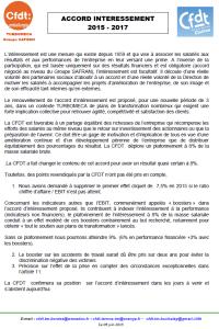 Déclaration CFDT au CCE du 09-06-2015